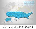 modern of united state of... | Shutterstock .eps vector #1221336694