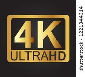 4k ultra hd sign | Shutterstock .eps vector #1221344314