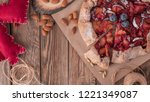 christmas cake  pastries with a ... | Shutterstock . vector #1221349087