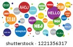 world hello day  november 21....   Shutterstock .eps vector #1221356317