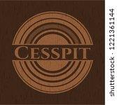cesspit realistic wooden emblem   Shutterstock .eps vector #1221361144