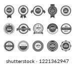 vintage premium badge. luxury... | Shutterstock .eps vector #1221362947