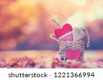 colorful nature  autumn in park ... | Shutterstock . vector #1221366994