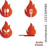 burn food logo | Shutterstock .eps vector #1221369484