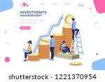 alternative progress  building... | Shutterstock .eps vector #1221370954