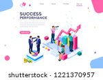 success and motivation. phone... | Shutterstock .eps vector #1221370957
