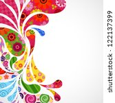 floral and ornamental item... | Shutterstock . vector #122137399