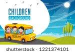 vector illustration of children ... | Shutterstock .eps vector #1221374101