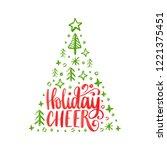 handwritten phrase holidays... | Shutterstock .eps vector #1221375451