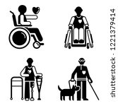 day persons disabilities icon... | Shutterstock .eps vector #1221379414