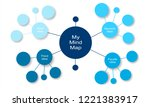 abstract mind map infographic.... | Shutterstock .eps vector #1221383917