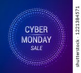 cyber monday sale vector banner....   Shutterstock .eps vector #1221384571