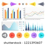 flowcharts with visualized data ... | Shutterstock .eps vector #1221393607