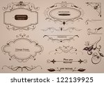 calligraphic design elements ... | Shutterstock .eps vector #122139925