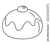 jewish sweet bakery icon.... | Shutterstock .eps vector #1221413371