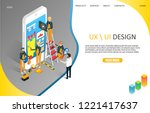 ux or ui design landing page... | Shutterstock .eps vector #1221417637