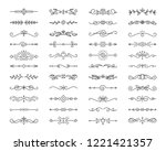 Stock vector text divider thin line icons set outline sign border element kit page decoration linear icon 1221421357