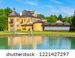 hellbrunn palace or schloss...   Shutterstock . vector #1221427297