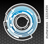 concentric gear shape icon... | Shutterstock .eps vector #12214354