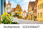 classic view of the medieval... | Shutterstock . vector #1221436627