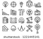set of engineering and... | Shutterstock .eps vector #1221445141