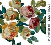 vintage floral seamless... | Shutterstock .eps vector #1221445327