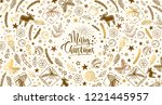 winter christmas and new year...   Shutterstock .eps vector #1221445957