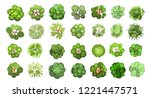 set of colored hand drawn... | Shutterstock .eps vector #1221447571