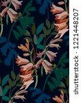 vintage floral seamless... | Shutterstock .eps vector #1221448207