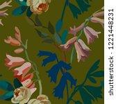 vintage floral seamless... | Shutterstock .eps vector #1221448231