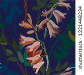 vintage floral seamless... | Shutterstock .eps vector #1221448234