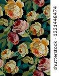 vintage floral seamless... | Shutterstock .eps vector #1221448474