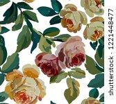 vintage floral seamless... | Shutterstock .eps vector #1221448477