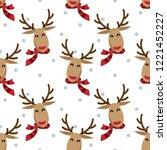 Happy Reindeer Wears Red Scarf...