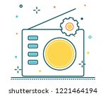 radio line filled icon... | Shutterstock .eps vector #1221464194