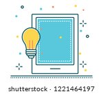 tablet phone line filled icon... | Shutterstock .eps vector #1221464197