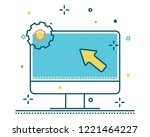 computer line filled icon... | Shutterstock .eps vector #1221464227