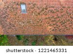inspection of the red tiled... | Shutterstock . vector #1221465331