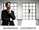 businessman is thinking... | Shutterstock . vector #1221466414