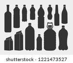 a set of plastic  metal and... | Shutterstock .eps vector #1221473527