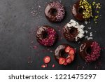 Baked Chocolate Donuts With...