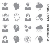 migraine and headache icons.... | Shutterstock .eps vector #1221478507