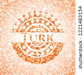 turk abstract orange mosaic... | Shutterstock .eps vector #1221483154