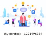 online assistant  virtual help...   Shutterstock .eps vector #1221496384