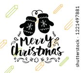 merry christmas. typography.... | Shutterstock .eps vector #1221497881