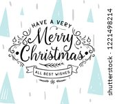 merry christmas. typography.... | Shutterstock .eps vector #1221498214