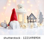 christmas composition with... | Shutterstock . vector #1221498904