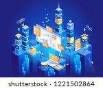 technology concept of digital... | Shutterstock .eps vector #1221502864