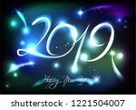 new years banner for 2019 with...   Shutterstock .eps vector #1221504007