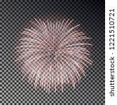 festive fireworks set....   Shutterstock .eps vector #1221510721